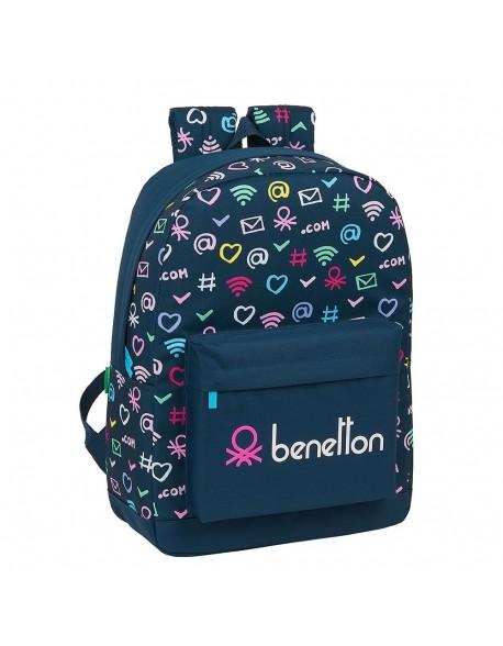 UCB Benetton Dot Com Mochila grande con funda ordenador