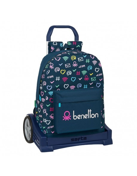 UCB Benetton Dot Com Mochila con carro ruedas Evolution, Trolley