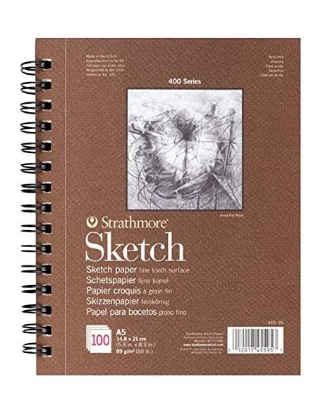 Strathmore Sketch Álbum Esbozo encolado por un lado, 100 hojas