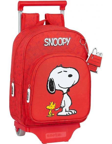 Snoopy Mochila pequeña ruedas, carro, trolley