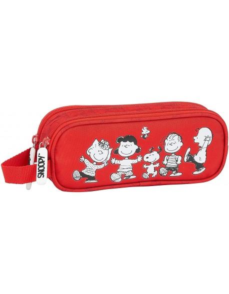 Snoopy Estuche portatodo doble 2 cremalleras escolar