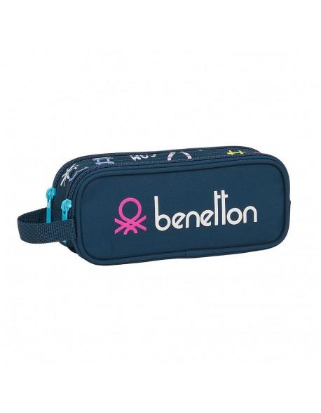 UCB Benetton Dot Com Estuche portatodo doble 2 cremalleras escolar