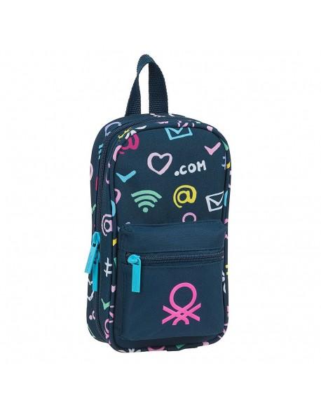 UCB Benetton Dot Com Plumier mochila 4 estuches llenos, 33 piezas, escolar