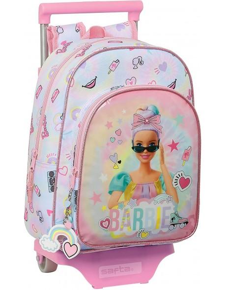 Barbie Girl Power Mochila pequeña ruedas, carro, trolley