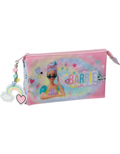 Barbie Girl Power Estuche portatodo triple escolar