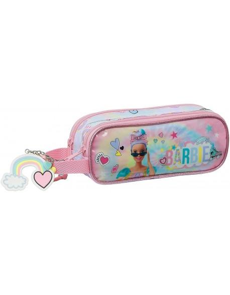 Barbie Girl Power Estuche portatodo doble 2 cremalleras escolar