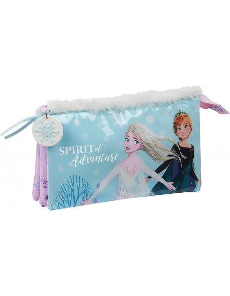 Frozen II Spirit of Adventure Estuche portatodo triple escolar