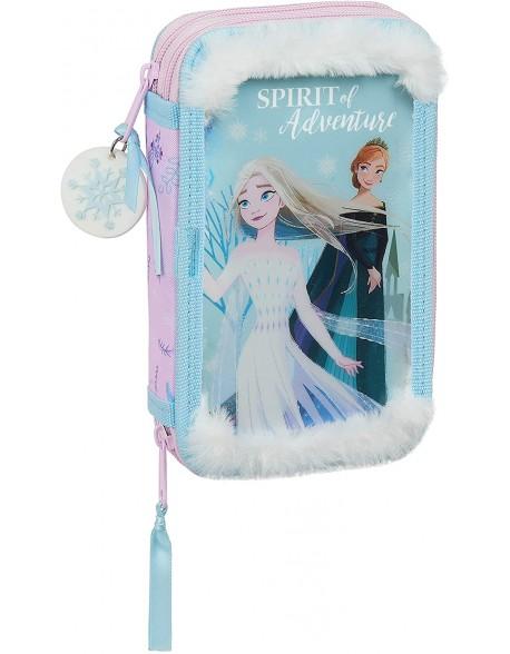 Frozen II Spirit of Adventure Plumier doble, estuche con 28 piezas, niña