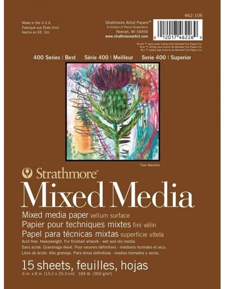 Strathmore Mixed Media Álbum encolado por un lado, 15 hojas