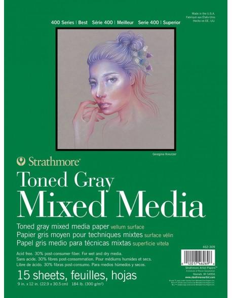 Strathmore Recycled Toned Mixed Media Álbum encolado por un lado, 15 hojas