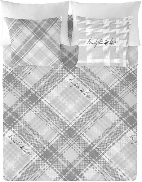 Beverly Hills Polo Club Funda nórdica Lysa Grey 100% algodón
