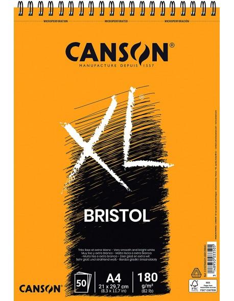 Canson XL Bristol, Bloc microperforado, 50 Hojas,  180g