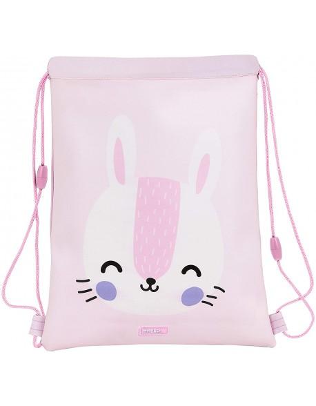 Safta Rabbit Saco mochila plano cuerdas 26 x 34 cm
