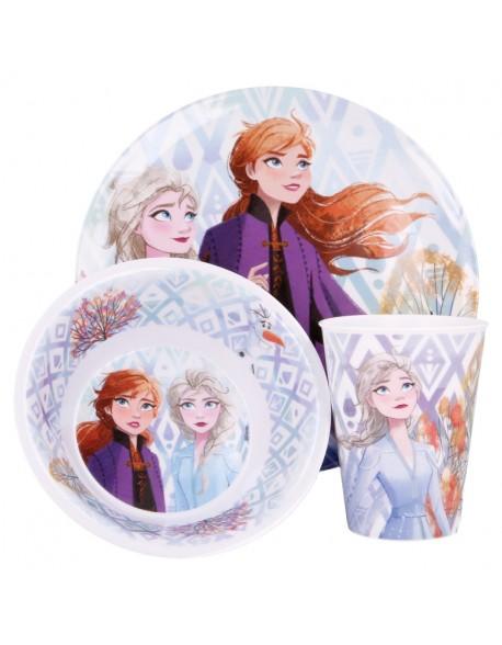Frozen II Elements Vajilla 3 piezas Plato + Bol + Vaso